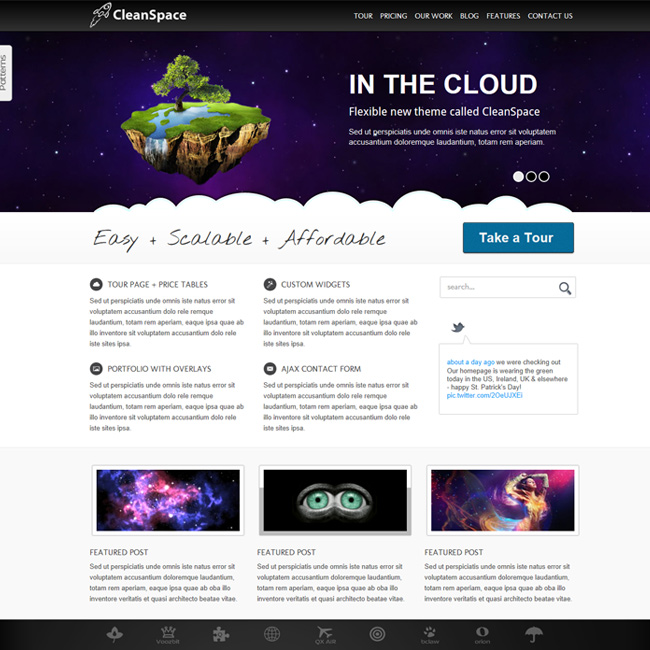 CleanSpace – Business WordPress Theme