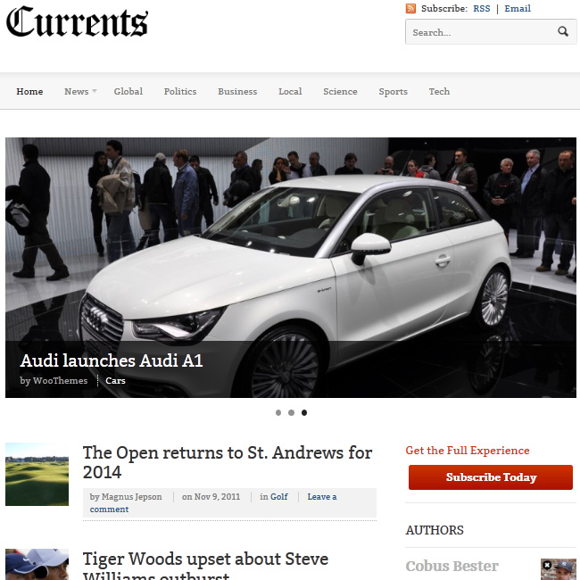 Currents by WooThemes