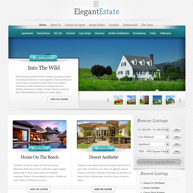ElegantEstate - WordPress Business Theme for Real Eastate Website | Premium WordPress Themes
