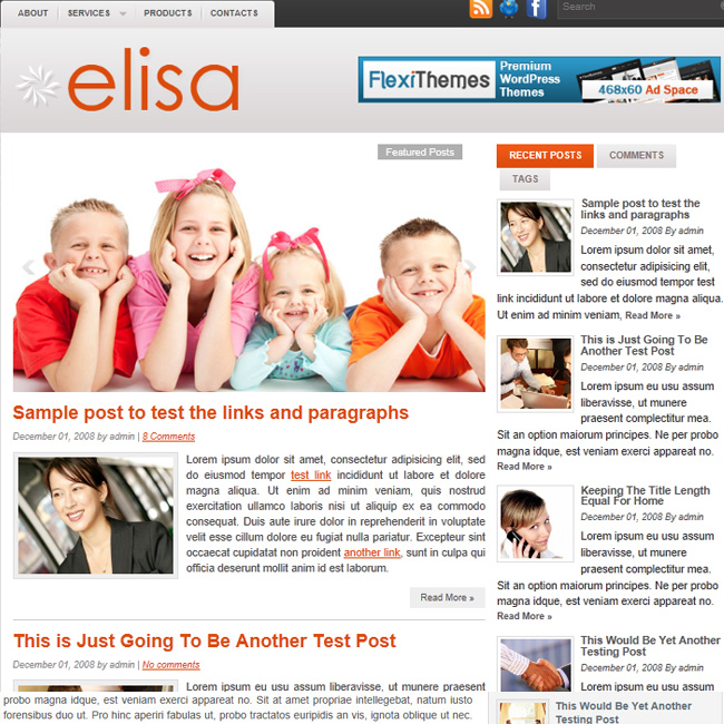 Elisa – WordPress Theme for Blog