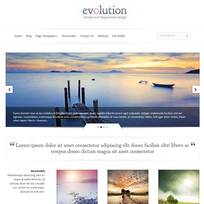 Evolution WordPress Theme by ElegantThemes