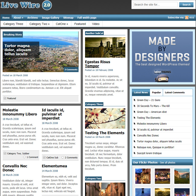 Live Wire Magazine WordPress Theme