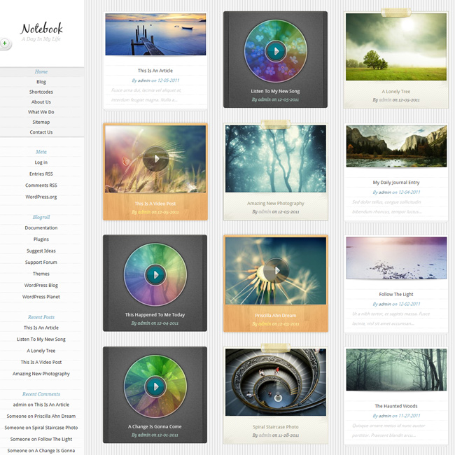 Notebook – Responsive Portfolio WordPress Theme