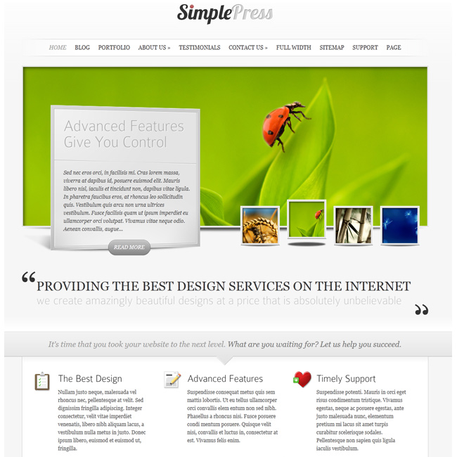 SimplePress – Blog WordPress Theme