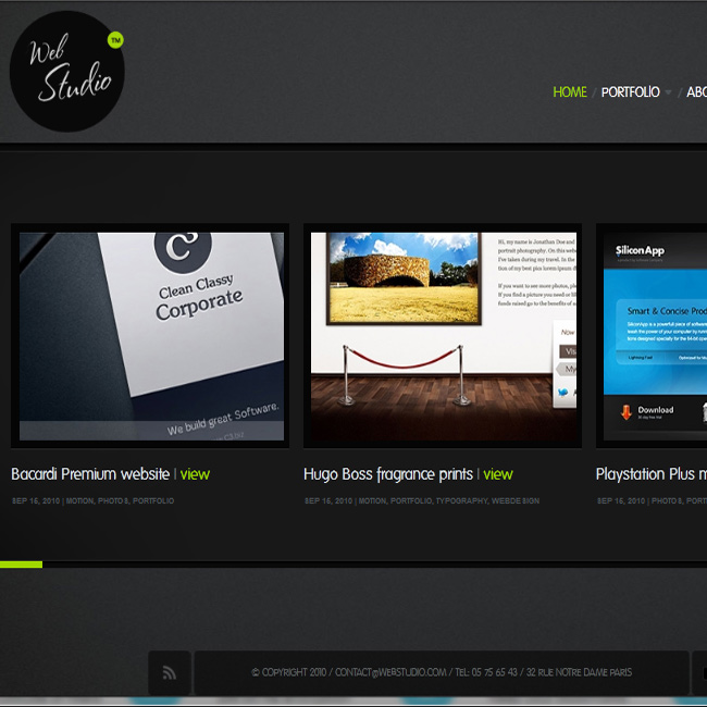 WebStudio – Photography WordPress Theme