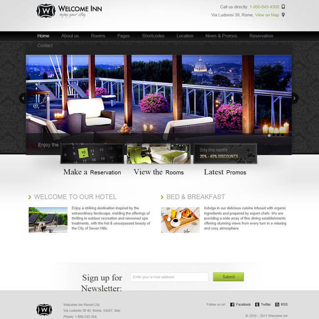Welcome Inn – Restaurant, Hotel, Tourist Agency WordPress Theme