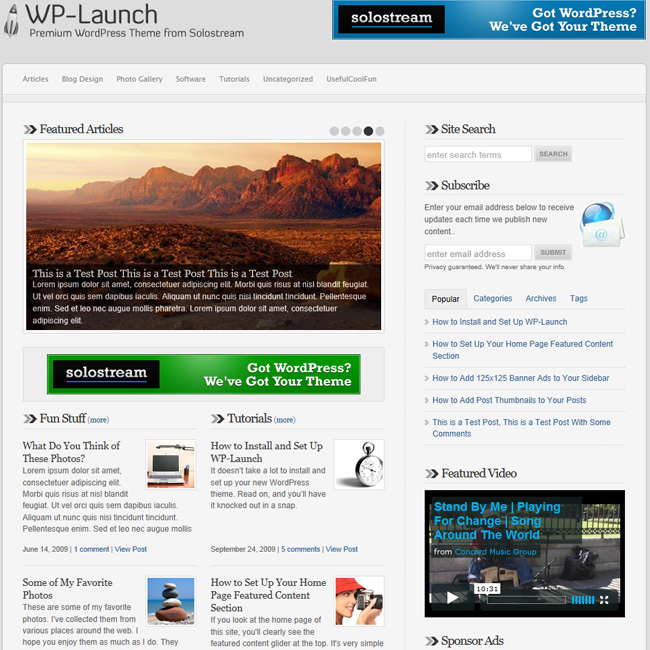 WP-Launch Premium WordPress Theme
