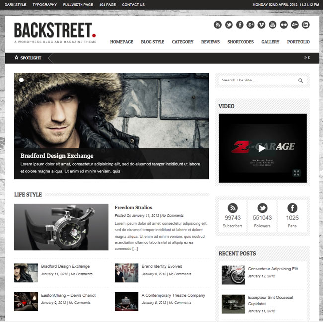 Backstreet – Theme for Blog or Magazine