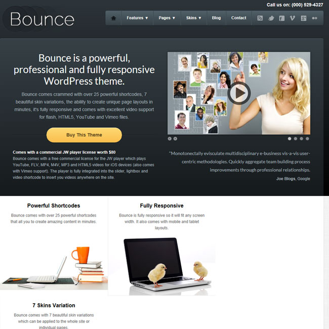 Bounce – Professional and Responsive Business WordPress Theme