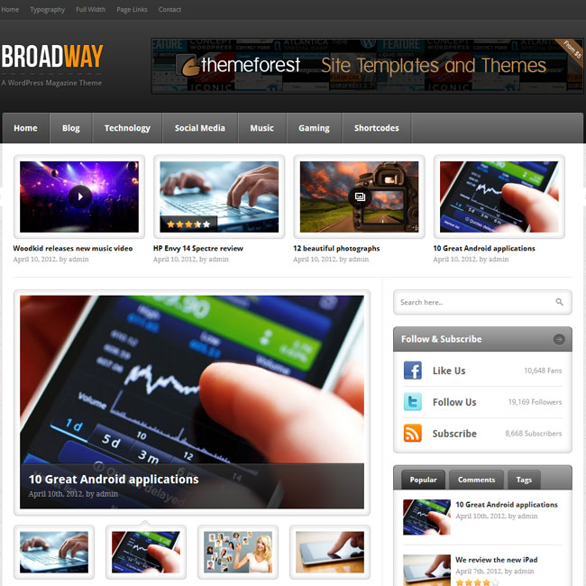 Broadway – A Premium WordPress Magazine Theme