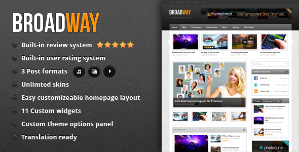 Broadway - A Premium WordPress Magazine Theme