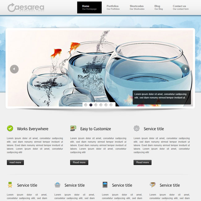 Caesarea – Premium Business WordPress Theme