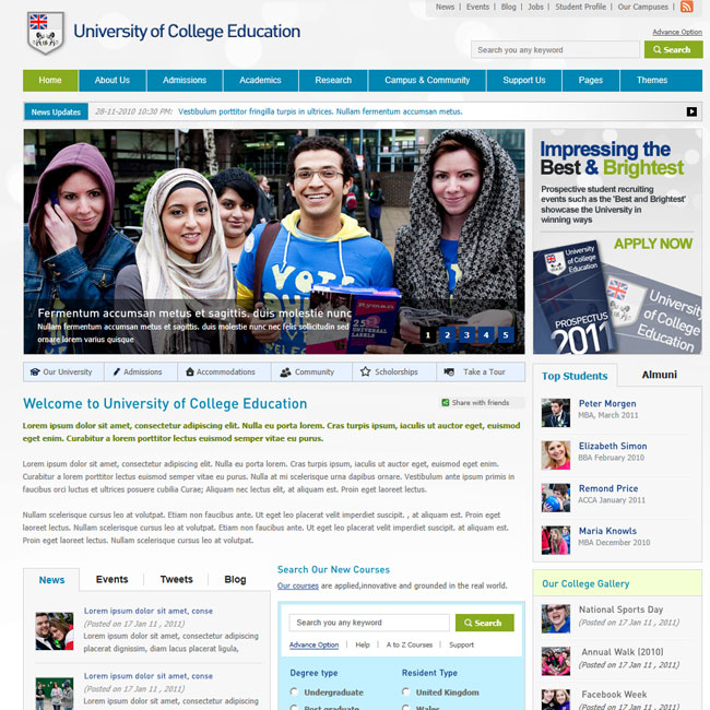 College Education – Premium WordPress Theme