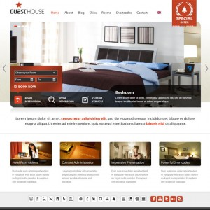 Guesthouse – Hotel, B&B or Campsite Business WordPress Theme