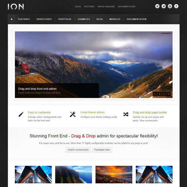 ION Dragable – All purpose WordPress Theme