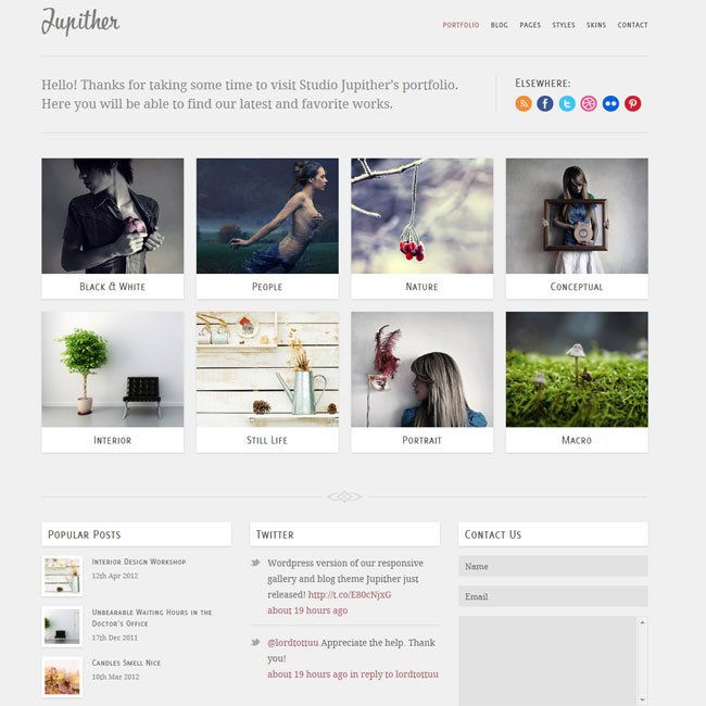 Jupither – Responsive Gallery & Blog WordPress Theme