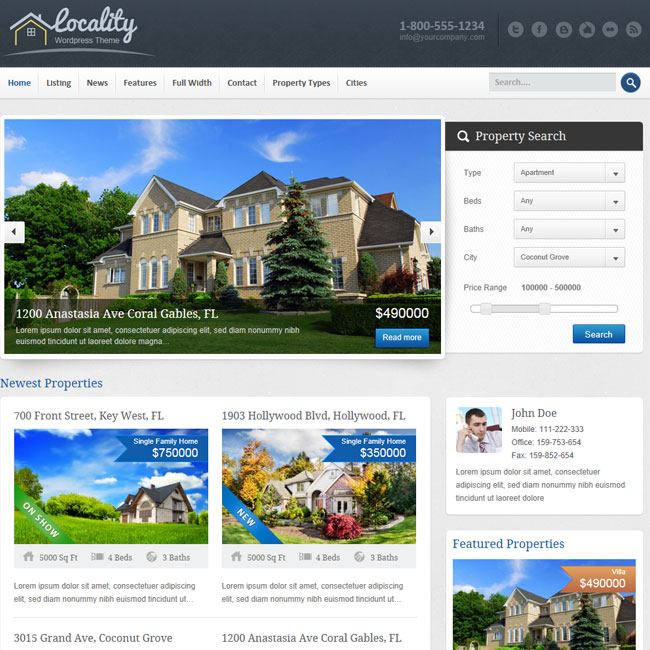 Locality - Real Estate WordPress Theme | Best WordPress Themes 2017