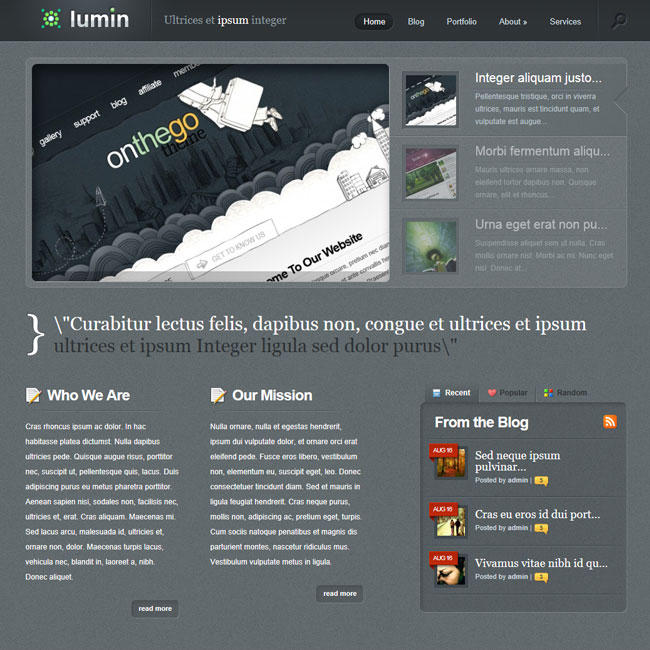 Lumin – Professional Portfolio WordPress Theme
