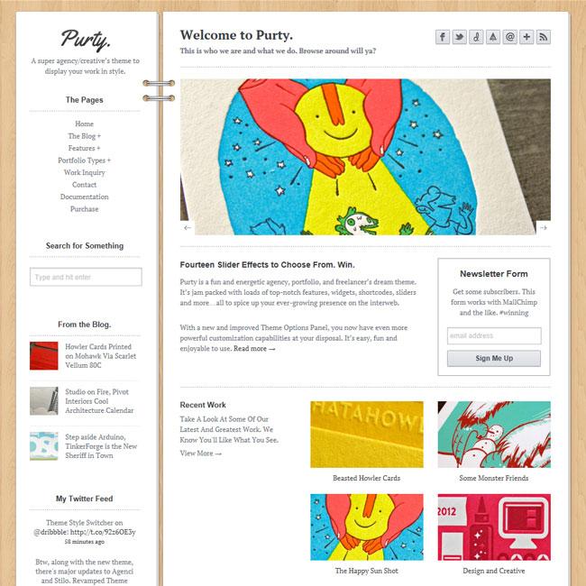 Purty – Premium Creative Portfolio WordPress Theme
