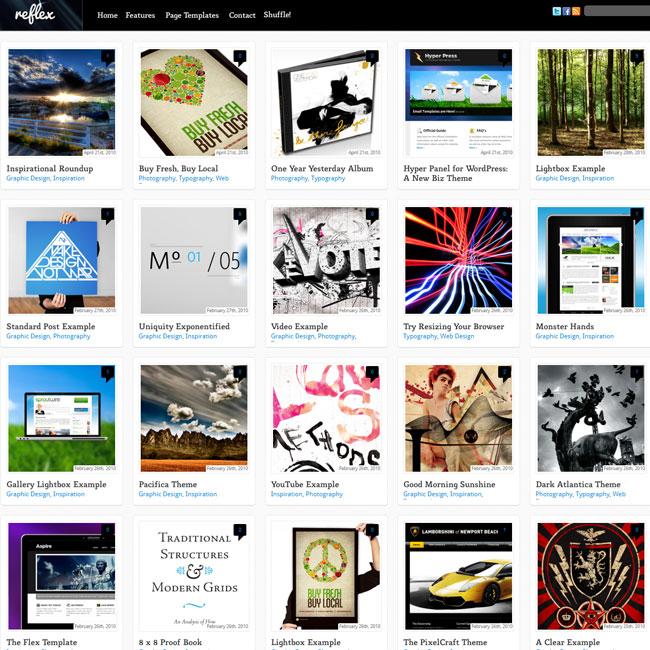 Reflex - Dynamic Grid Portfolio, Pinterest Blog Theme | Best ...