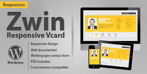 Vcard Zwin- Premium Responsive vCard WordPress Theme