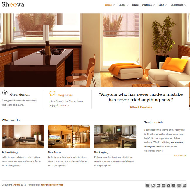 Sheeva – Responsive & Multipurpose Theme