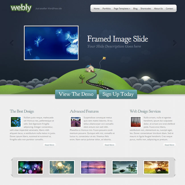 Webly - Theme for Porfolio or Blog