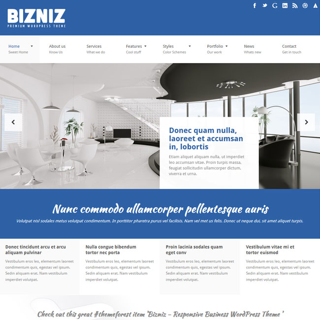 Bizniz responsive business wordpress theme best wordpress themes bizniz responsive business wordpress theme friedricerecipe Image collections