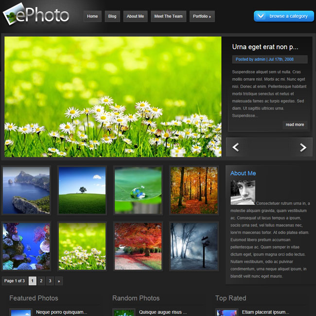 ePhoto WordPress Theme | Premium WordPress Themes