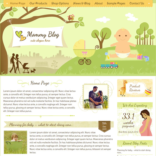 Mommy Blog – WordPress Theme with Jigoshop