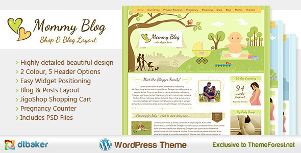 Mommy Blog - WordPress Theme (Jigoshop)