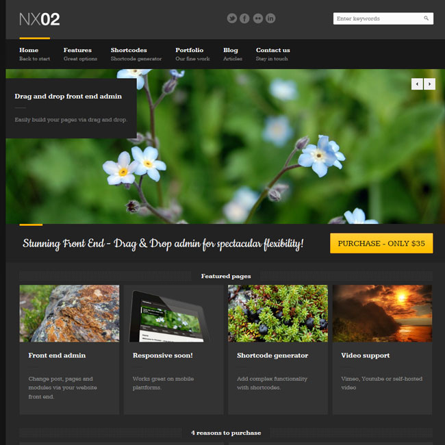NX02 - Drag and Drop WordPress Theme
