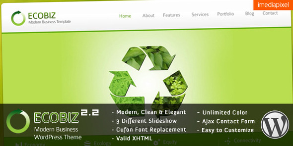 Ecobiz business wordpress theme preview