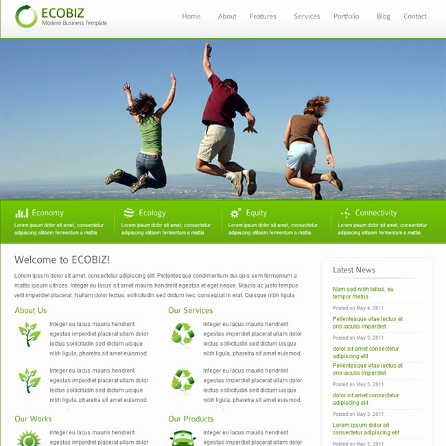 ECOBIZ Business WordPress Theme
