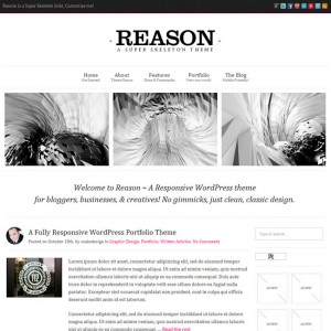 Reason WP theme: Smart, Responsive, Customizable