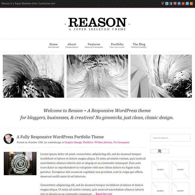 Reason WP theme: Smart, Responsive, Customizable
