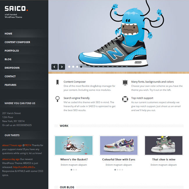 SAICO – Powerful WordPress Theme