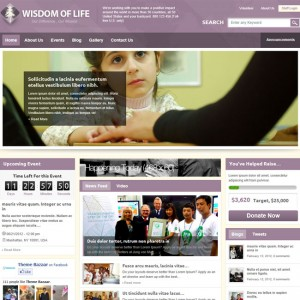 Wisdom Of Life: NGO, Charity WordPress Theme
