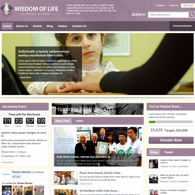 Marvelous Wisdom Of Life: NGO, Charity WordPress Theme Pertaining To Ngo Templates
