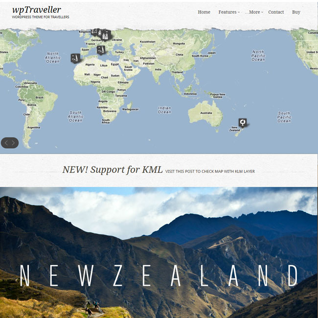 wpTraveller - WordPress Theme