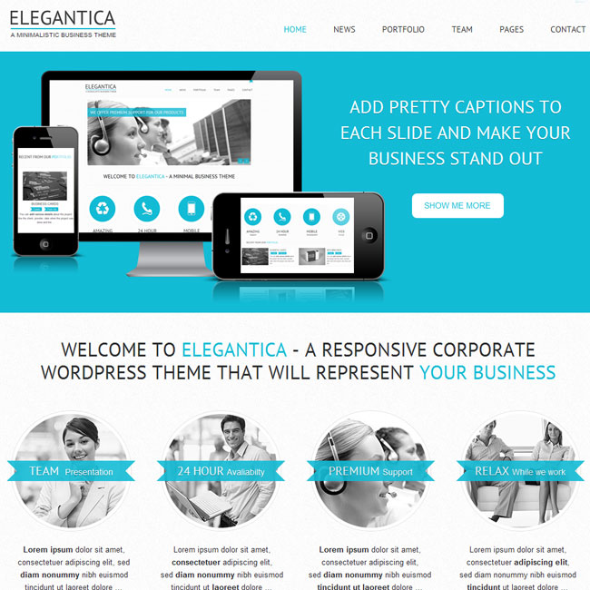 Elegantica wordpress theme best wordpress themes 2018 elegantica responsive business wordpress theme cheaphphosting Image collections