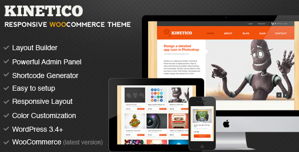 Kinetico WordPress theme preview