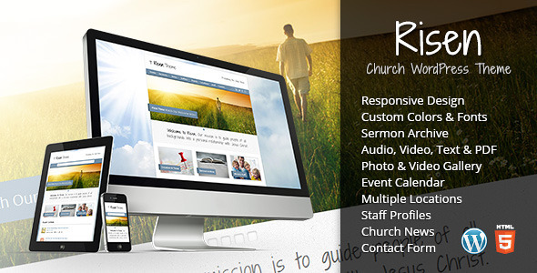 risen wordpress theme preview