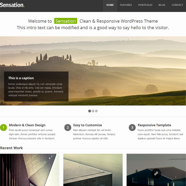 Sensation - Responsive WordPress Theme