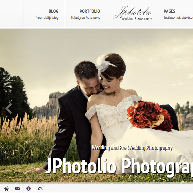 JPhotolio Wedding WordPress Theme