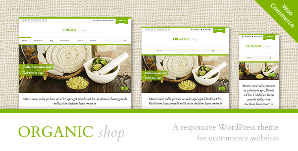 Organic Shop WordPress Theme