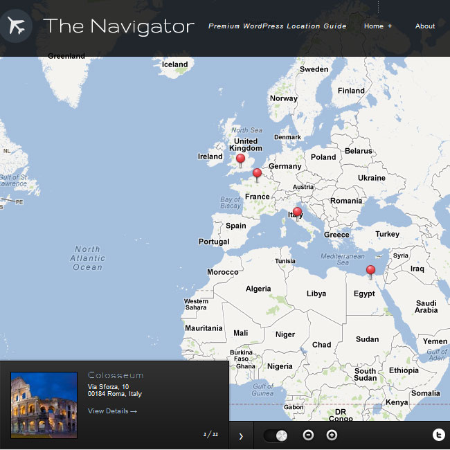The Navigator WordPress Theme for Location Guide
