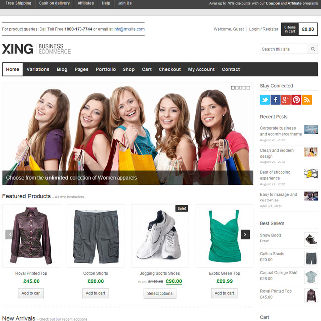 Xing eCommerce WordPress Theme