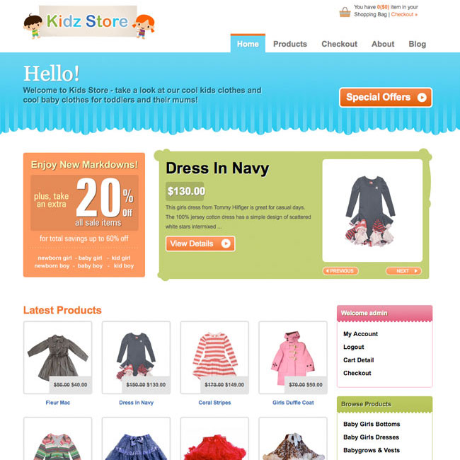 Kidz Store eCommerce WordPress Theme