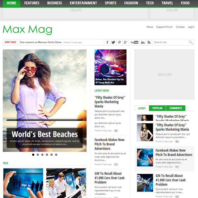 Max Mag – Responsive WordPress Theme for Magazine